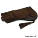 """Double layer glove """"brown"""""""