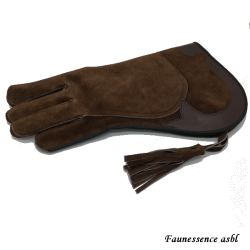 "Double layer glove ""brown"""