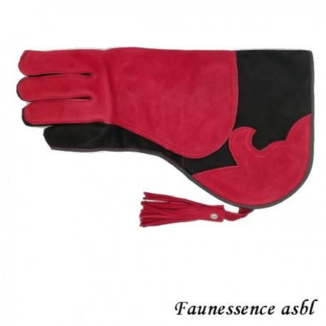 """Gant double couche """"rouge et noir"""""""
