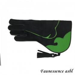 """Gant double couche """"noir et vert"""""""