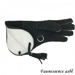 """Gant double couche """"hiver"""" """"noir"""""""