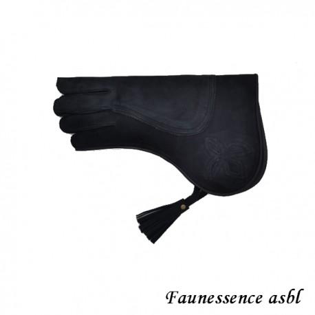 """Gant double couche """"noir """""""