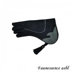 """Gant double couche """"noir et gris"""""""