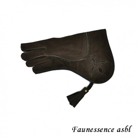 "Gant double couche ""brun et vert"""